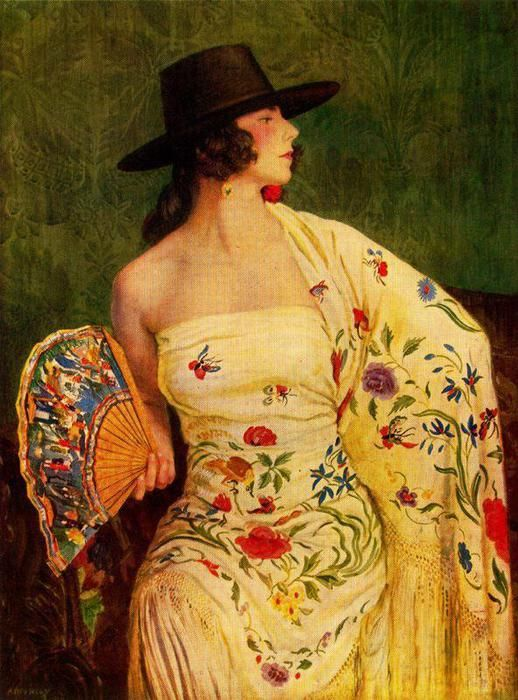 """Andaluza"" Watercolor by George Owen Wynne Apperley, 1924"