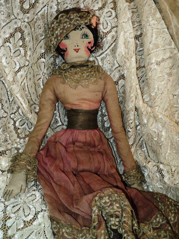 1920s Flapper Boudoir Doll French Original Metallic Lace Leggings Dress Lame Ooh La La!!! Hold for V