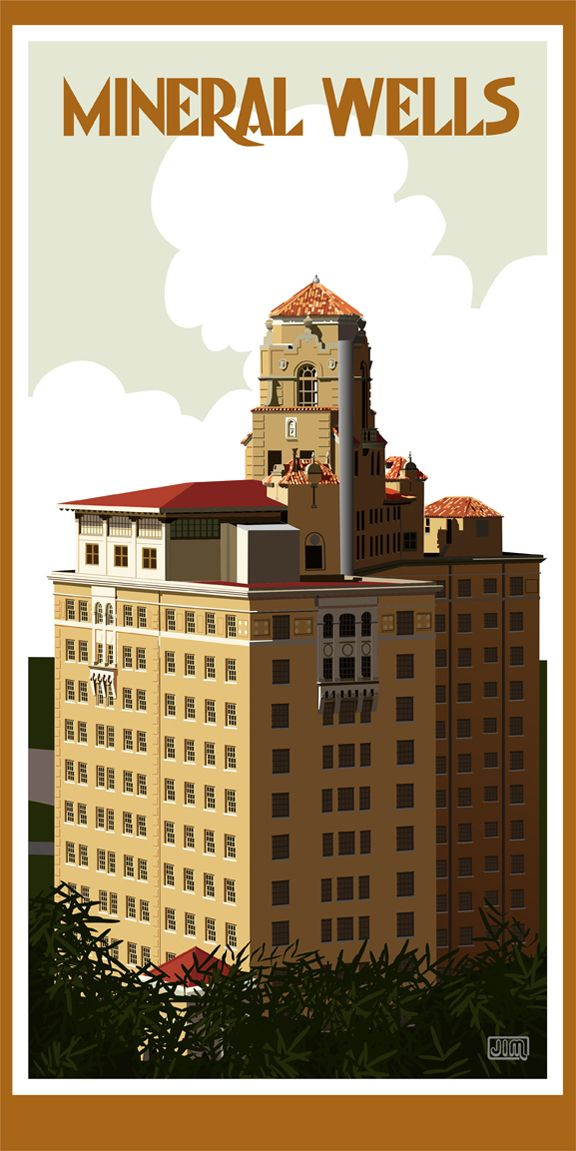 Baker Hotel In Mineral Wells From Texasposter