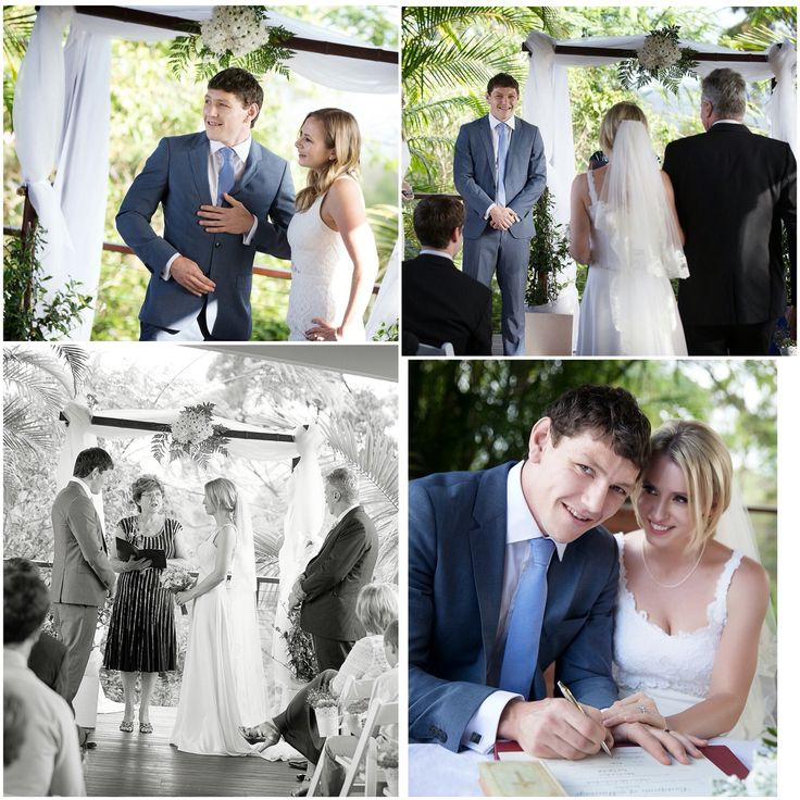 Our wedding ceremony in our garden at home. We were spoilt with such a superb location x