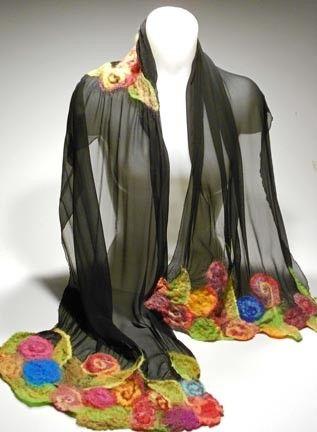 NEEDLE FELTING.........................PC....................felted scarf