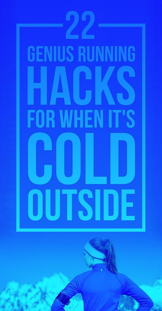 The best tips for running outside when it's cold AF.