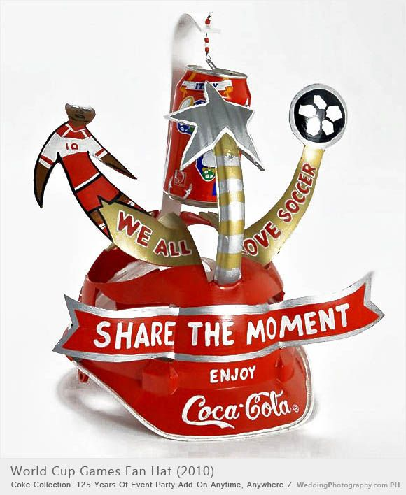 *COCA-COLA ~ hat was made for the use during the 2010 FiFA Games in South Africa, made by Makoya Makaraba.
