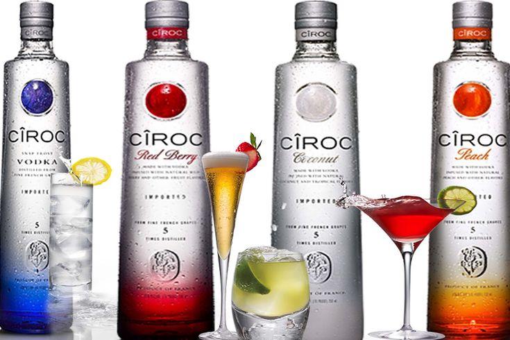Cocktails à la vodka Cîroc