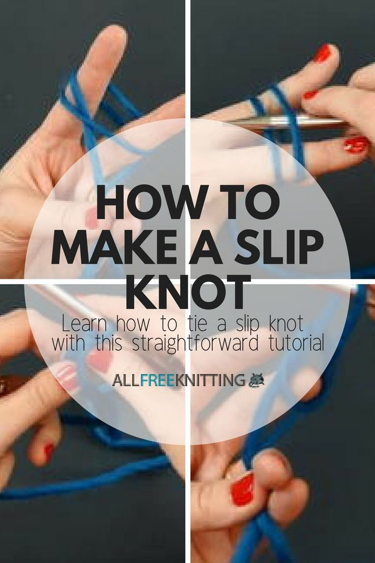 How to tie slip knot knitting