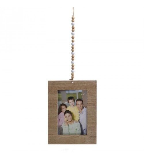 WALL FRAME W_BEADS IN NATURAL 10X15