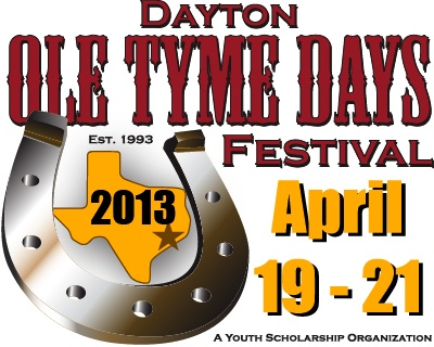 The mission of the Ole Tyme Days Festival is to promote Dayton, Texas and to raise money for local youth scholarships. The festival continues to grow each year. Join us in Dayton, Texas and enjoy the Dayton Ole Tyme Days Festival for the weekend. Fun filled activities include something for everyone. The festival is held annually, in April, at the Dayton Community Center, 801 S. Cleveland St., Dayton, Texas. Dayton is located on U.S. Hwy 90, between Houston and Beaumont.