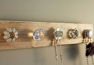 Reclaimed Wooden Jewellery Hook Board - kitchen accessories