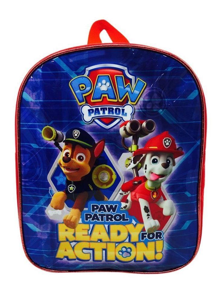PAW PATROL BACKPACK CHASE & MARSHALL TRAVEL SCHOOL JUNIOR BAG CHILDREN KIDS BLUE in Home, Furniture & DIY, Children's Home & Furniture, Kitchen & Dining | eBay