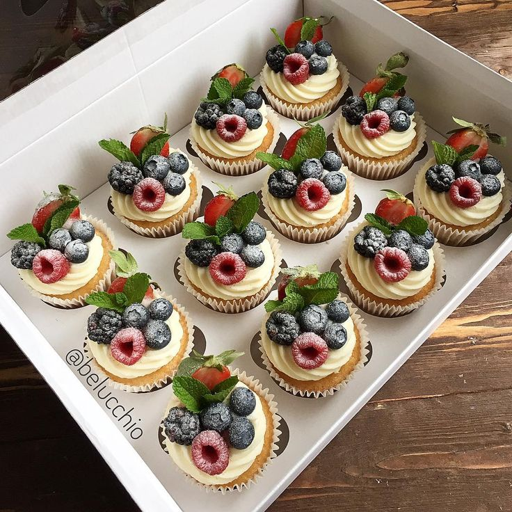 Капкейки с фруктами фото