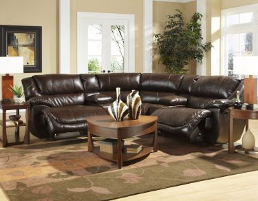 5 Piece Park Avenue Bonded Leather Sectional