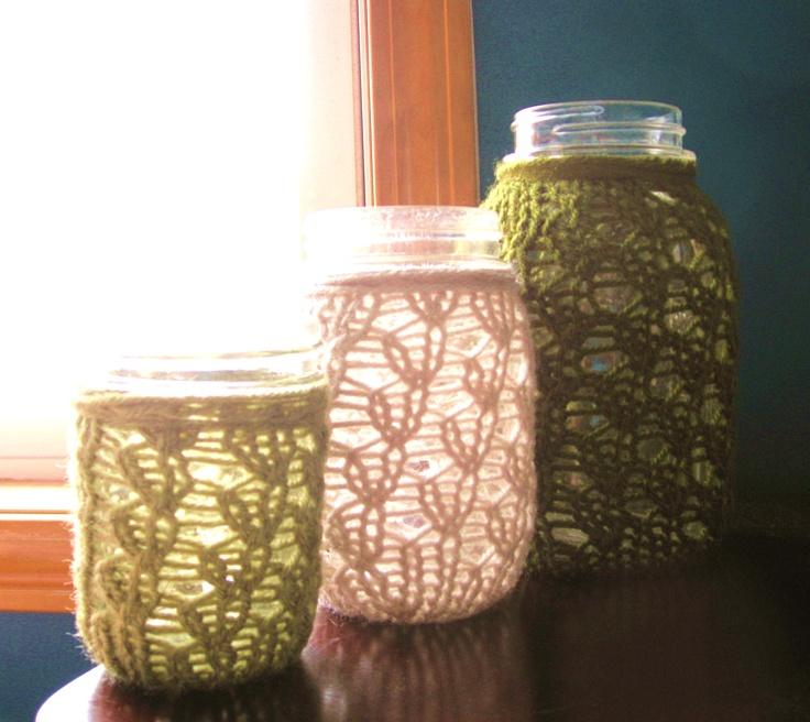crochet covers for mason jard