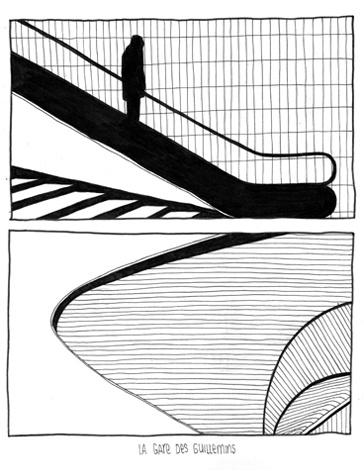 La Gare Des Guillemins // illustration // black and white // fineliner // graphic // drawing