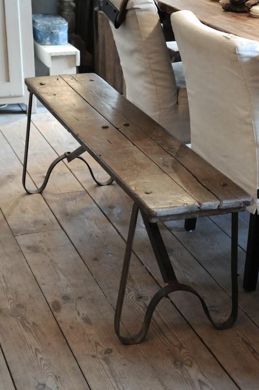 Oude bank ijzer/hout - overig