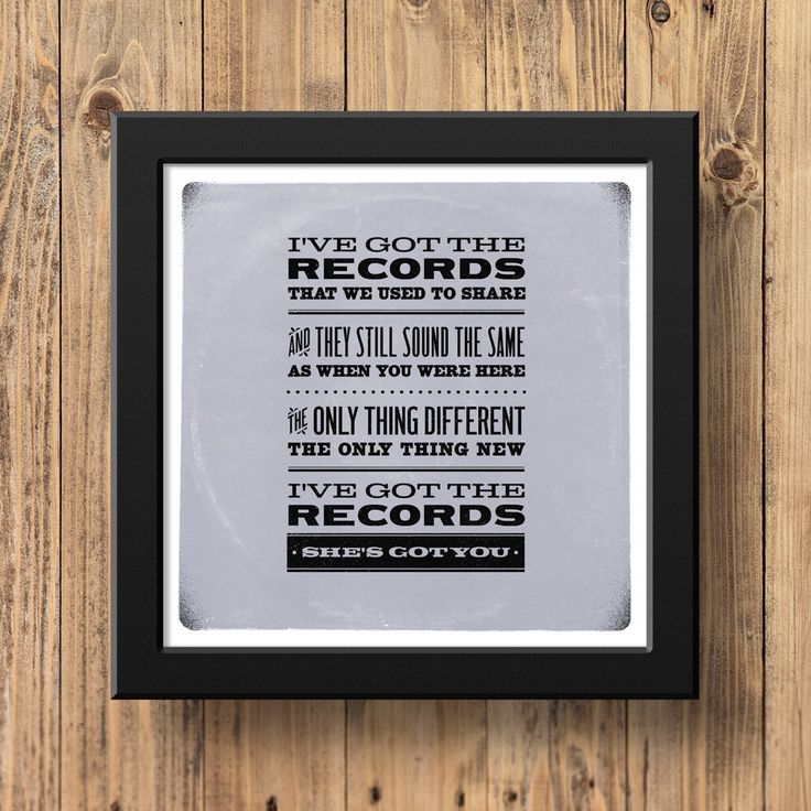 Lyric shes got you lyrics : 20 best Color of Sound images on Pinterest | Poster prints, Etsy ...