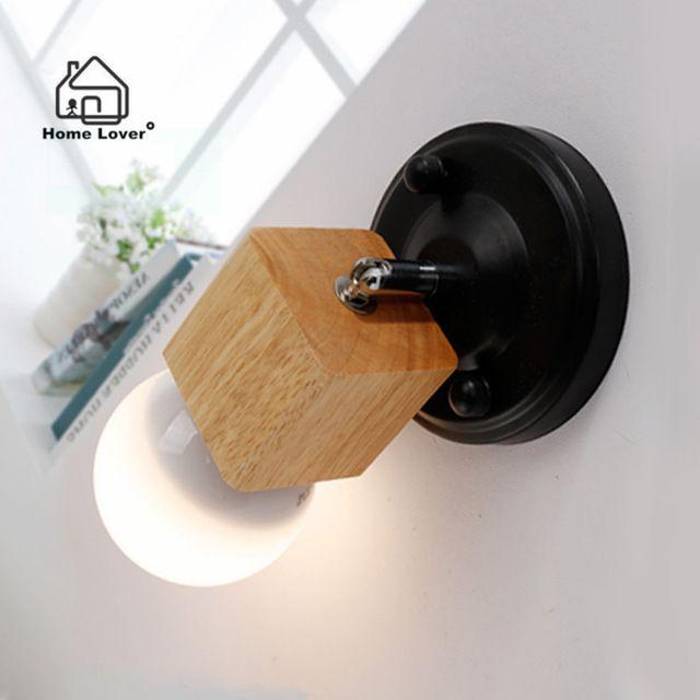 Led lampade da parete per soggiorno Cucina Bagno soffitto dell'interno/Decorazione Della Parete arandela Legno Metallo illuminazione interna arandela