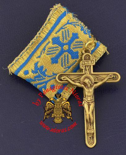 Amulet - Pendant with Metal Orthodox Cross