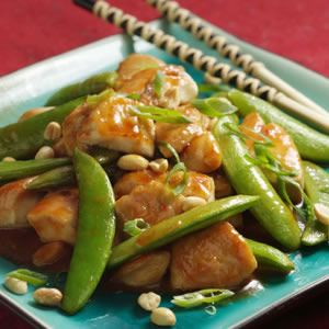 The piquant Sichuan Sauce (which doubles easily) works well with almost any stir-fry but particularly enhances dishes with meat, fish and poultry. When stir-frying chicken, always spread the pieces i...see more