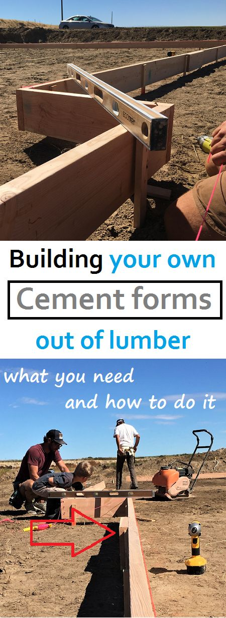 What you need, how to do it, and exactly how much it costs and saves to build your own cement forms out of lumber. Build your own house and save thousands.