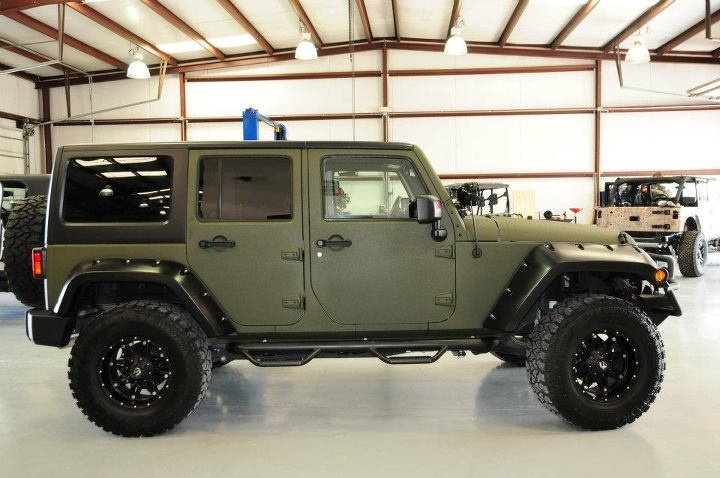 2011 LS Conversion Edition Jeep Wrangler X loaded and Kevlar matte green
