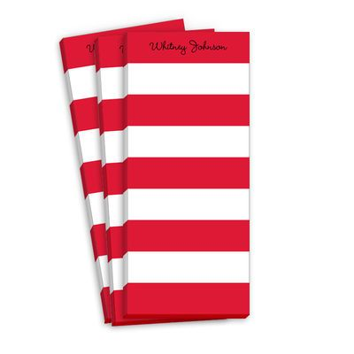 Red Stripe Skinnie Notepads: Stripe Skinnie, Red Stripes, Skinnie Notepads