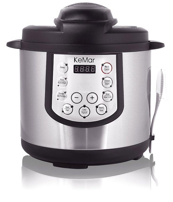 Amazon.de: KeMar KPC-150 Elektrischer Schnellkochtopf / Schnellkocher / Multikocher / Pressure Cooker / BPA-frei