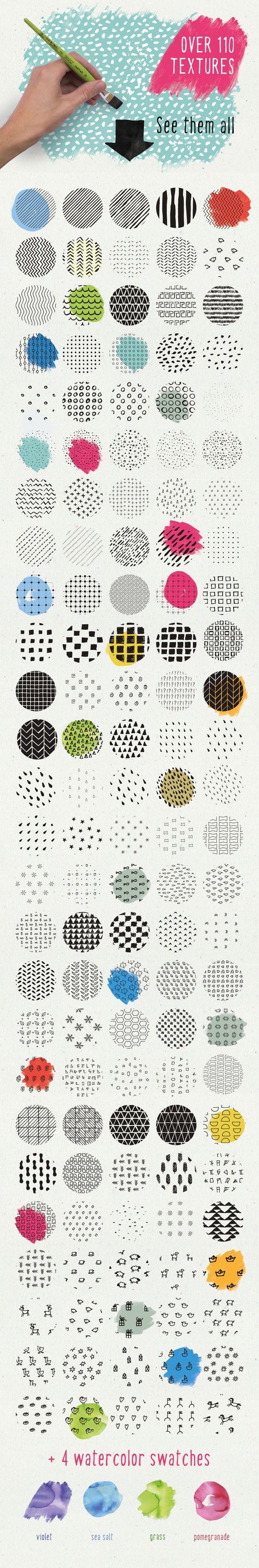 HandSketched Seamless Pattern Pack by Vítek Prchal on Creative Market