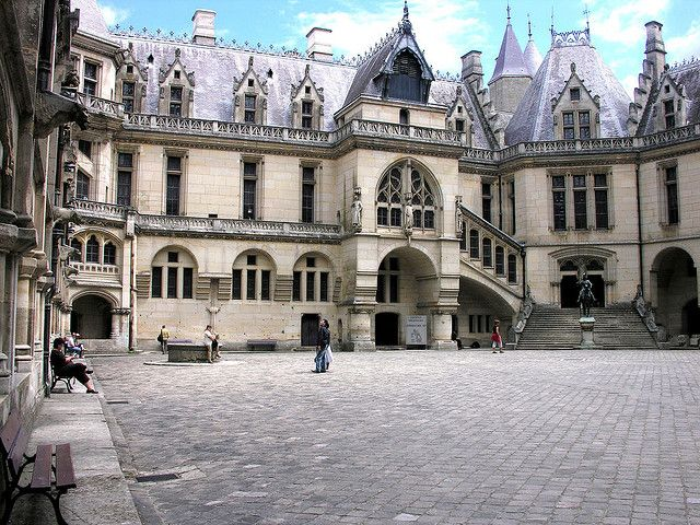 Château de Pierrefonds, Paris, France - The Château de Pierrefonds includes most of the characteristics of defensive military architecture from the Middle Ages, though it underwent a major restoration in the 19th century.