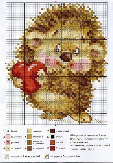 Hedgehog / Ouriço Pigmeu Africano em Ponto Cruz