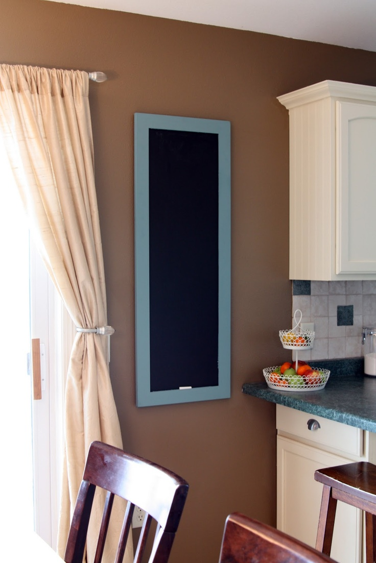 DIY Chalkboard using a $5 cabinet door from the Restore! Brilliant!