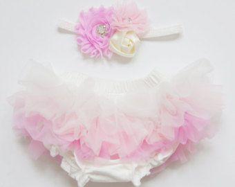 newborn crown headband and diaper cover ruffle tutu bloomers