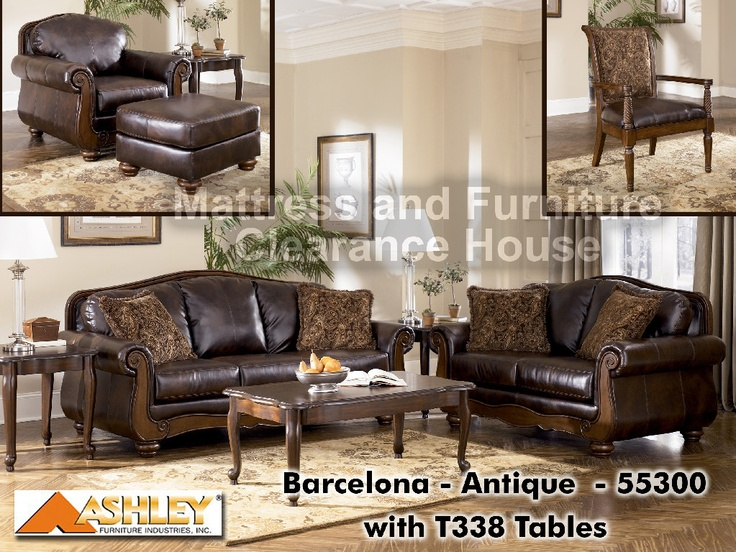 $479.99 Ashley Signature Design Barcelona Antique Loveseat 5530035. With An  Elegant Flowing Design Featuring Rich