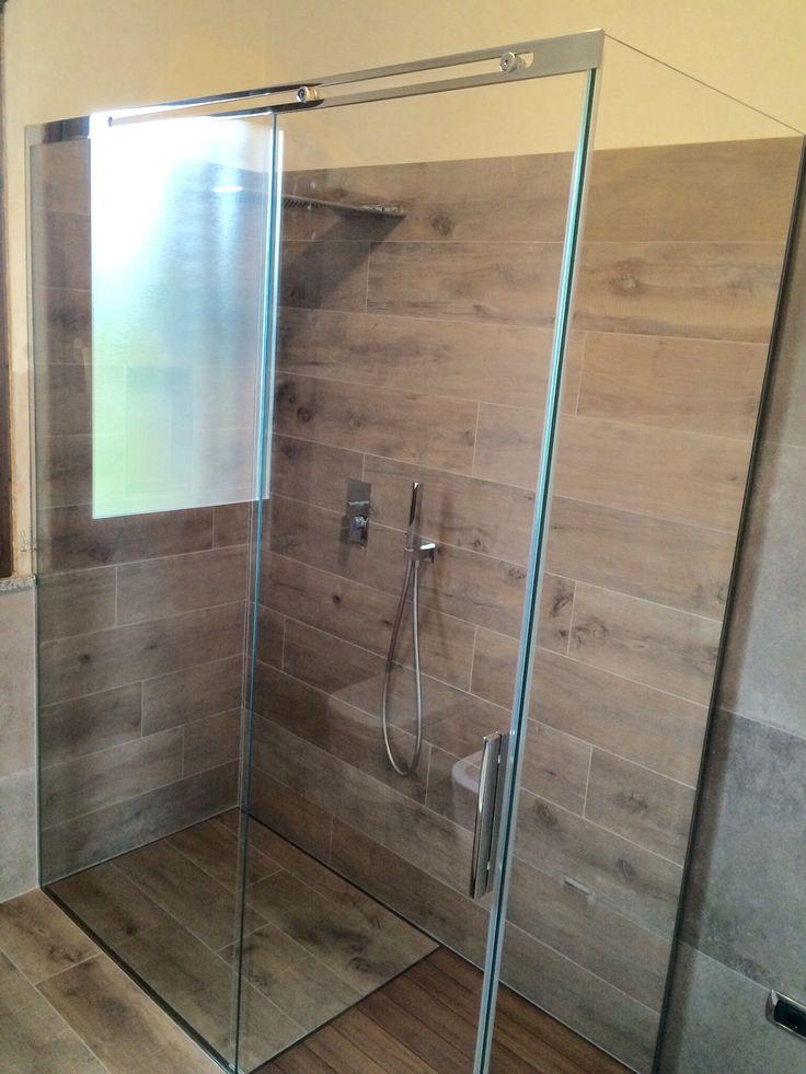 Bellissima #doccia #scorrevole, #stile #SILVERPLAT in #vetro temperato 8 mm su misura