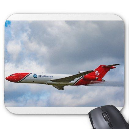 #Boeing 727-200 Oil Spill Response Mouse Pad - #office #gifts #giftideas #business