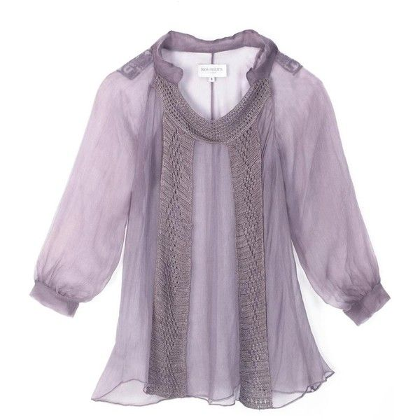 Ivana Basilotta Lilac Silk Top ($150) ❤ liked on Polyvore featuring tops, blouses, shirts, blusas, lilac blouse, purple vest, vest shirt, see through blouse and purple silk shirt