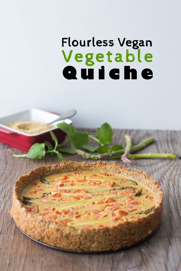 A recipe for a highly nutritious and delicious Flourless Vegan Vegetable Quiche that is naturally gluten-free, egg-free, dairy-free and soy-free.