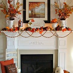 I wanted to add lots of pops of vibrant orange this year.