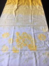 Vintage Vera Burlington King Size Single Pillowcase Yellow Ombré Flowers