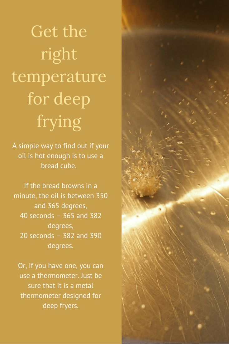 Cooking Tip: How to get the right temperature for deep frying