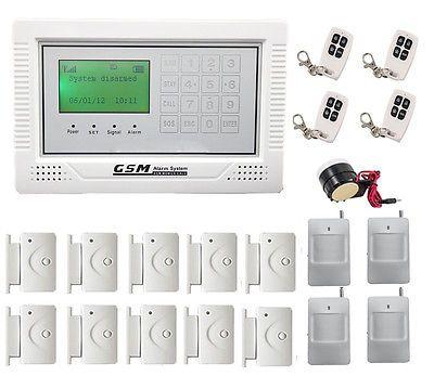 137 — J1 Wireless GSM SMS Home Security Burglar House Fire Alarm System Auto Dialer US