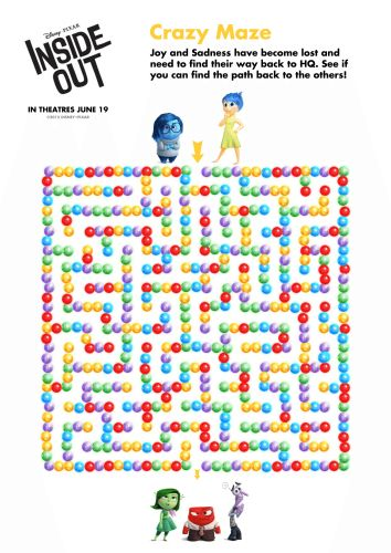 Inside Out Printable Kids Activities