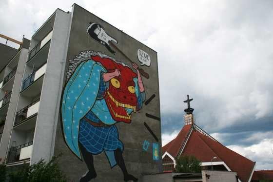 #Mural przy ul. Pilotów / Mural by the Pilotów Street   #gdansk #streetart