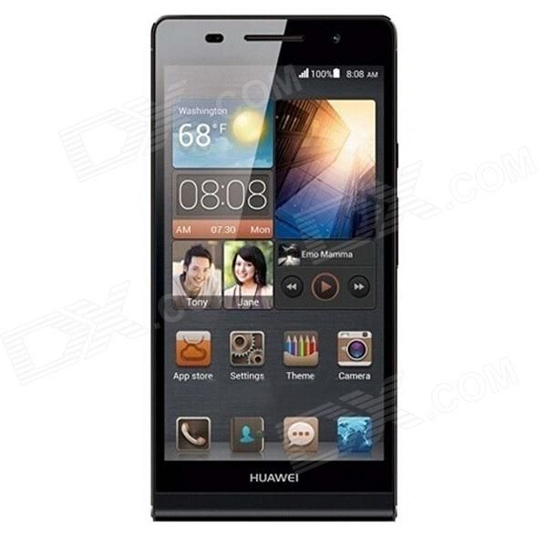 HUAWEI P6S Quad-Core Android 4.2 WCDMA Bar Phone w/ 4.7 Screen, Wi-Fi, RAM 2GB and ROM16GB - Black