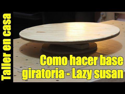 Base giratoria / Mostrador giratorio / bases para pasteles Hecha con sobrantes de madera - YouTube