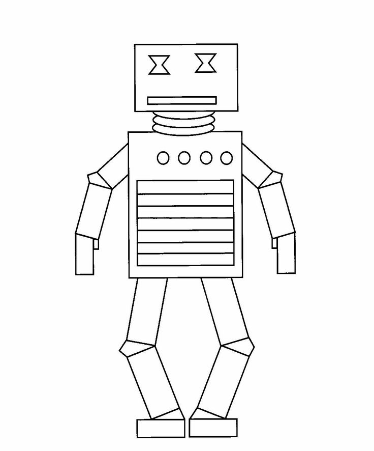 Brilliant Beginnings Preschool: Robot Coloring Pages