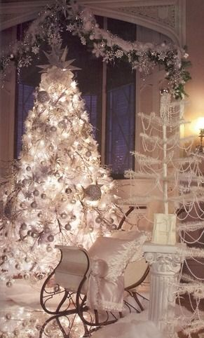 winter wonderland decor all in white