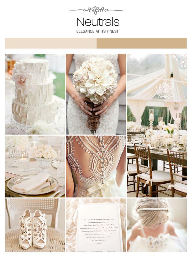 Neutral wedding inspiration board via Weddings Illustrated