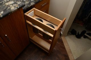 Bathroom pull-out drawer with outlet. Robin Hiken Interiors - eclectic - bathroom - baltimore - by Robin Hiken Interiors