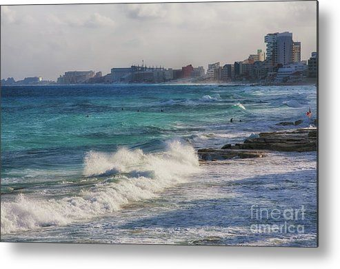 Windy day in Cancun, Mexico - Metal Print by Tatiana Travelways.  All metal prints are professionally printed, packaged, and shipped within 3 - 4 business days and delivered ready-to-hang on your wall. Choose from multiple sizes and mounting options.
