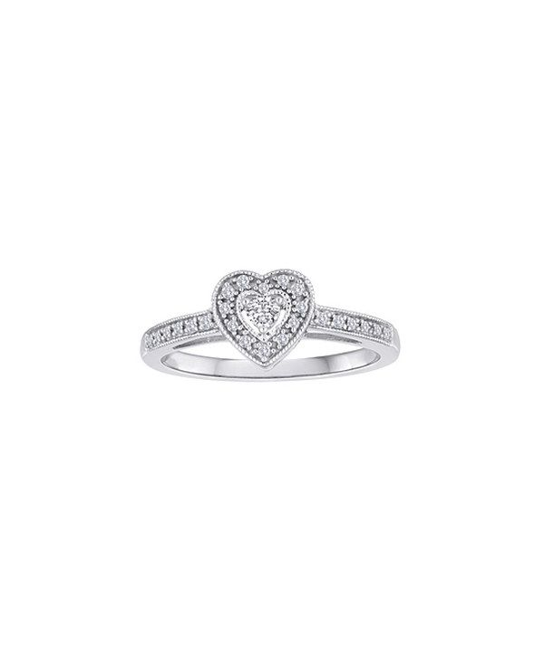 Look at this Diamond & Sterling Silver Heart Ring on #zulily today!